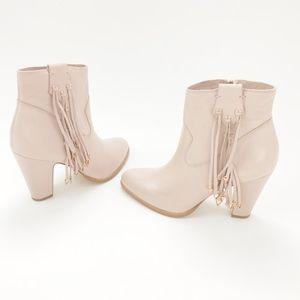 matisse • kate bosworth pink blush fringe boots